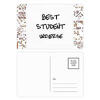 最高の学生宇宙学生の引用 公式ポストカードセットサンクスカード郵送側20個