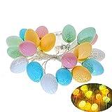 3 metros de largo 20 luces LED, guirnalda de huevos de Pascua, luces de decoración de la habitación de los niños, fiesta de cumpleaños, boda, decoración de fiesta temática de primavera