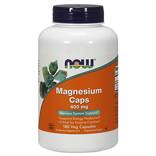 NOW Supplements, Magnesium 400 mg, Enzyme Function, Nervous System Support, 180 Capsules
