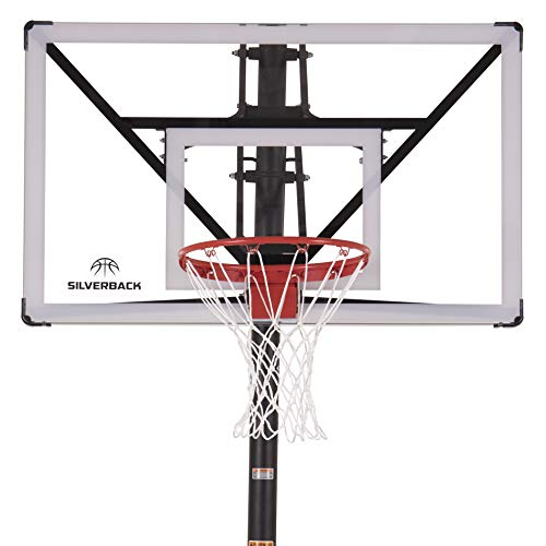 """Silverback NXT 54"""" In-Ground Basketball Hoop with Adjustable-Height Backboard and QuickPlay Design"""