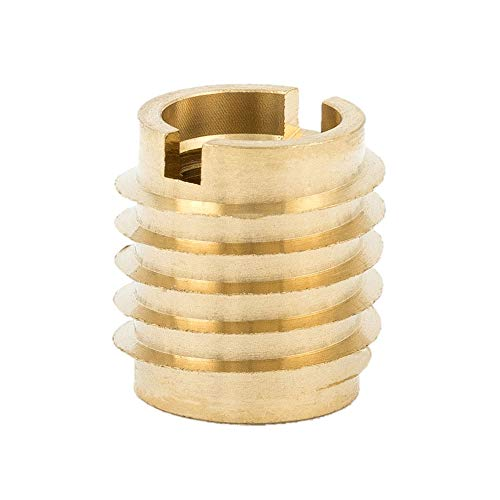 "Mejor E-Z Lok 400-4 Threaded Insert, Brass, Knife Thread, 1/4""-20 Internal Threads, 0.500"" Length (Pack of 25) crítica 2020"