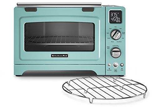 KitchenAid KCO275AQ Convection 1800-watt Digital Countertop Oven, 12-Inch, Aqua...