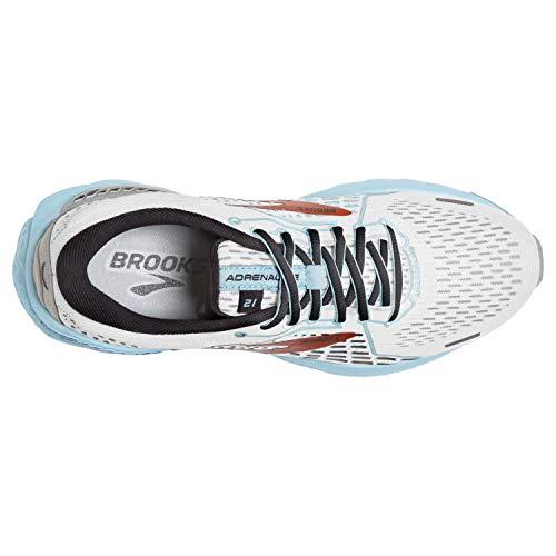 Brooks Adrenaline GTS 21 White/Alloy/Light Blue 5 B (M)