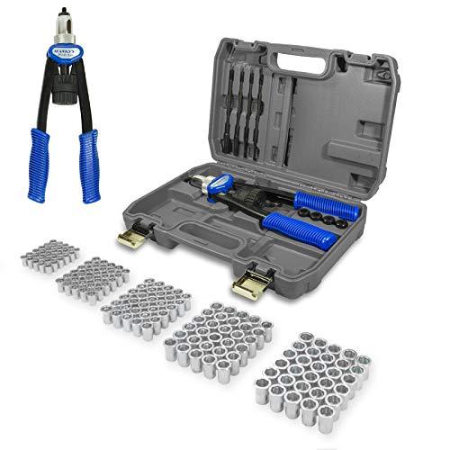 Pince à Rivets I Pince à riveter professionnelle I 150 écrous à rivets M5-M6-M8-M10-M12 I Taille Compacte