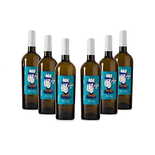 Trerè Vino Bianco Pregiato Sauvignon Blanc Chardonnay DOC 6 Bottiglie Regalo Donna Uomo Compleanno Idee Regalo Anniversario Matrimonio Servire Da Refrigeratore Vino In Calici Vino Bianco