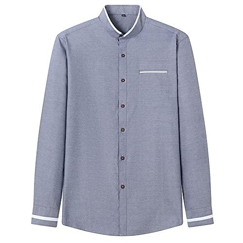 Camisas De Manga Larga Para Hombre - Camisa De Vestir De Manga Larga Para Hombres - Tops De Negocios Sólidos...