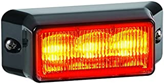 Federal Signal IPX310-2 IMPAXX LED Exterior/Perimeter Light, Class 2, Surface Mount, Clear Center-Focused Lens with Amber LEDs