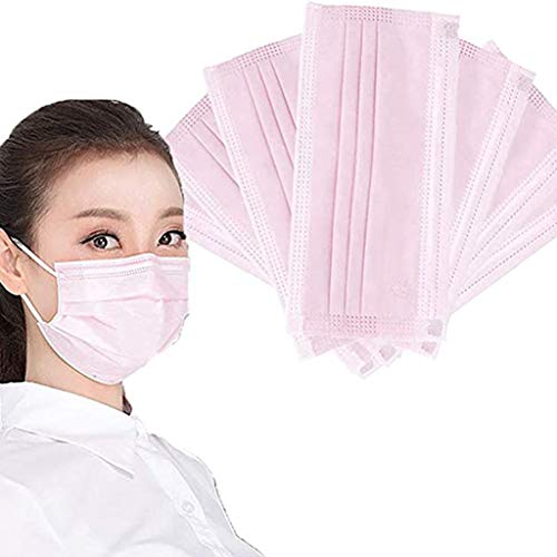 MTENG 50PC Disposable Face Industrial 3Ply Ear Loop