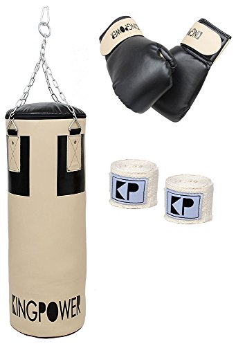 Auswahl Boxzubehör Boxset Boxsack Boxhandschuhe Bandagen Boxen Set Kingpower (Boxset 02)