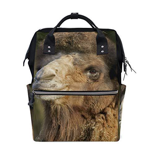Camel Dromedary Animal Sac à dos à langer personnalisé pour maman, fille, femme, école, voyage, randonnée, ordinateur portable, bébé