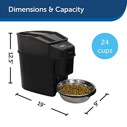Automatic Dog and Cat Feeder by PetSafe Healthy Pet, Programmable Digital Pet Feeder Dispenses up to 12 Meals, 5678 mL Total Capacity