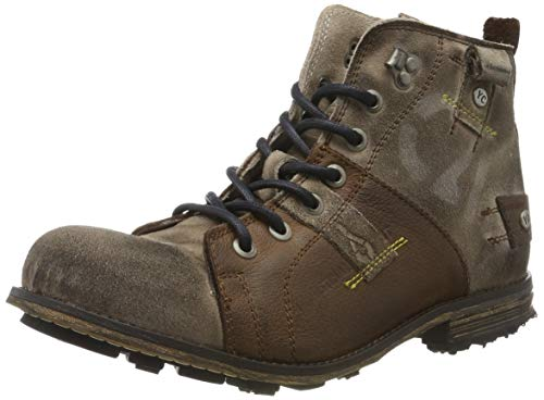 Yellow Cab Herren Industrial Biker Boots, Braun (Darkbrown 700), 42 EU