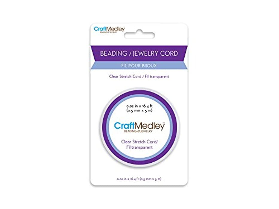 CraftMedley Wire Beading & Jewelry Cord, 5m by 0.5mm, Stretch Clear