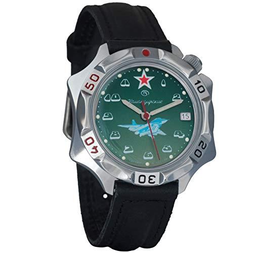 Reloj mecánico Vostok Komandirskie 2414 531124, diseño del ejército militar ruso