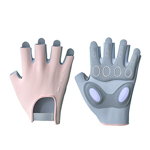 Workout Gloves for Women Fingerless Cycling Gloves Women's Gym Weight Lifting Gloves for Crossfit Exercise Fitness Black