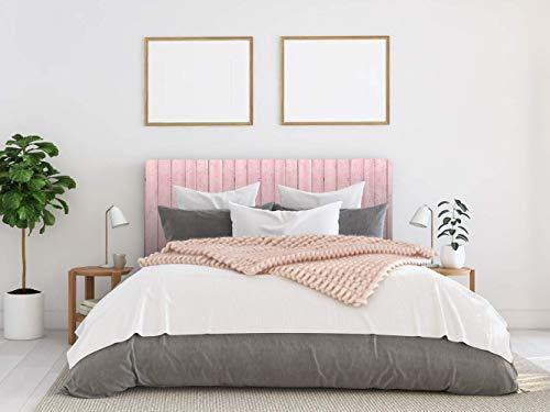 Cabecero Cama PVC Madera Rosa 150x60cm | Disponible en Varias Medidas | Cabecero Ligero, Elegante, Resistente y Económico