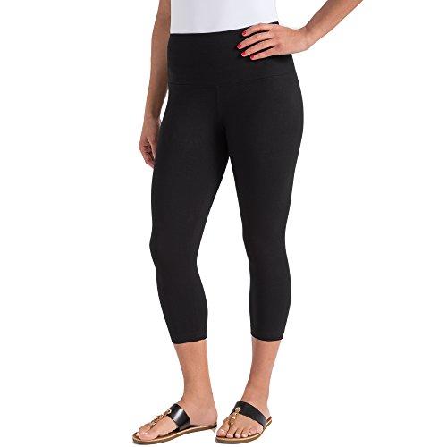 Lyssé Women's Cotton-Blend Capri Legging, Black,...