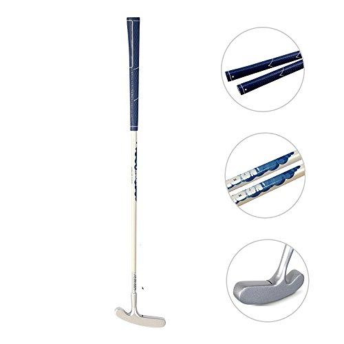 acstar Zwei Wege Junior Golf Putter Golf Edelstahl Putter links und Rechtshänder, silver head+white shaft+blue grip