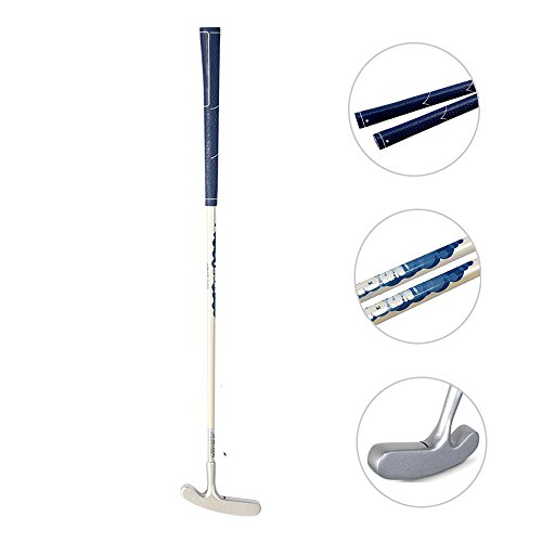 Acstar Two Way Junior Golf Putter Kids Putter Both Left and Right Handed Easily Use 3 Sizes for Ages 3-5 6-8 9-12(Silver Head+White Shaft+Blue Grip,25 inch,Age 3-5)