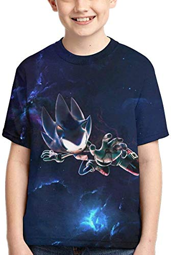 XCNGG Niños Tops Camisetas Top of The Line Logo 3D Printed Summer T-Shirt Best Gift Evers for So-Nic The Hedgehog Boys and Girls, Short Sleeves,tee