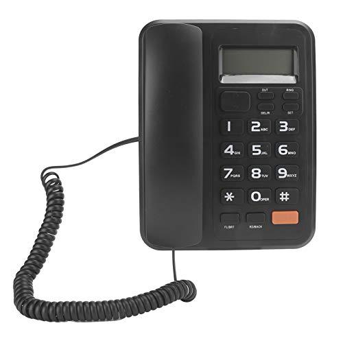Pwshymi Teléfono de escritorio con cable Teléfono fijo KX‑T2022CID para oficina para el hogar para la escuela para el altavoz