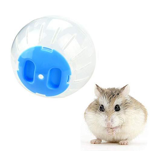 KUOZEN hamsterrad laufrad für Hamster Hamster stille Rad Holz Hamster Rad Große Hamster Ball Hamster Rad stille Spinner Hamster in eine Ball Spielzeug 12cm,Blue