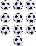 Istloho 10x Calcio Balilla Palline per Calcetto Stile Calcio Classico di plastica Mini Piccole Palle Ricambio per Accessorio Gioco tavola biliardino, 32mm