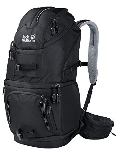 Jack Wolfskin Unisex – Erwachsene ACS Photo Pro Rucksack, Black, One Size