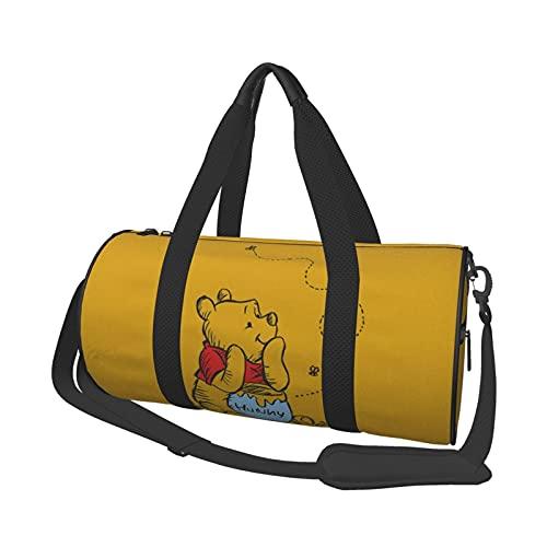 Anime Cartoon Winnie Pooh Bolsa de viaje Unisex Bolsos Vuelo Moda Gimnasio Deportes Entrenamiento Compras Hombro Bolsas