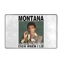 Scarface Tony Montana Even When I Lie カーペット マット ラグ フランネルラグ 滑り止めカーペット 防臭 柔らか 防ダニ ラグマット 洗え アールシーズン 床暖房 ふわっと手触り 60*40inch ずれない 防音 パンチカーペット 抗菌 お祝い