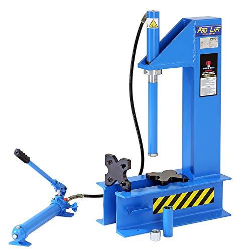 Pro-Lift-Werkzeuge Hydraulik-Presse 10 t manuell Handpumpe Werkstatt Industriepresse C-Presse Shop-Press verschraubt offene Rahmenpresse