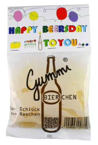 Gummi Bierchen - Gummibonbons mit Bier- und Zitronengeschmack 150g - alkoholfrei (happy beersday)