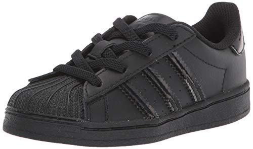 Adidas Originals Superstar - Sneaker elasticizzata per bambini, Nero (Nucleo nero/nero.), 18 EU