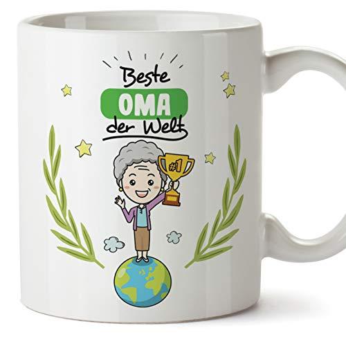 Mugffins Oma Tasse/Becher/Mug - Beste Oma der Welt - Schöne und lustige Kaffeetasse als Geschenkidee für Großmütter. Keramik 350 mL