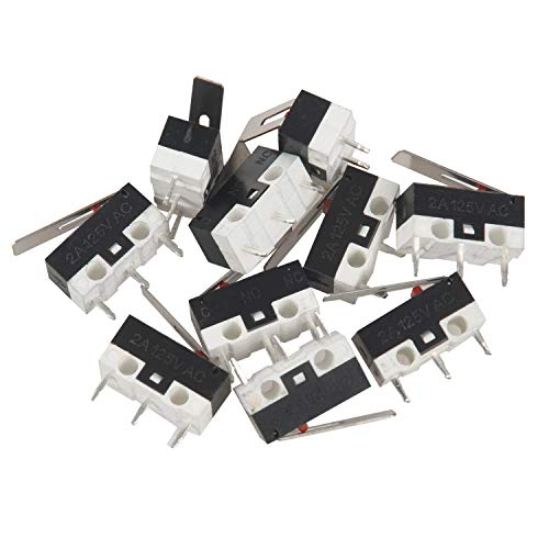 SODIAL(R) – Microinterruptor momentáneo de 125V CC, 1A, SPDT, 1NO, 1NC (10 piezas)