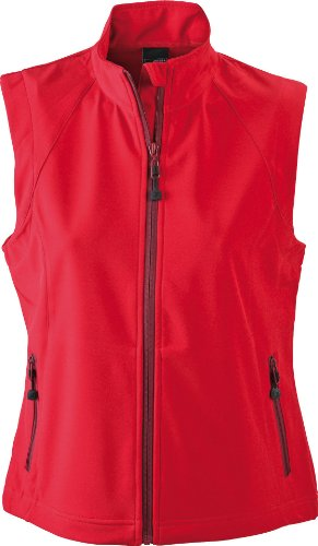 James & Nicholson Damen Jacke Softshellweste rot (red) XX-Large