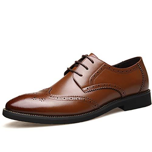 Geruiqi casual echt leer, Britse stijl, de gordelbrogue snijdt, beschermt de zaak Oxford de mannen comfortabel voor mannen ontworpen