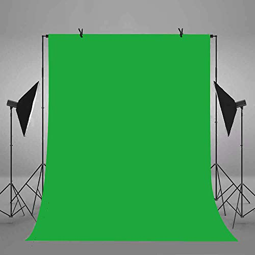 6x9ft/1.8x2.7m Green Screen Backdrop Polyester Fabric Chromakey Panel for Professional Solid Color Photography Background Removal Photo Video Studio Props FSS003