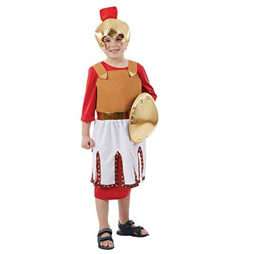 Fun Shack Disfraz de Soldado Romano para niño. Un Divertido y Adorable Traje histórico de Guerrero para niños, Talla M