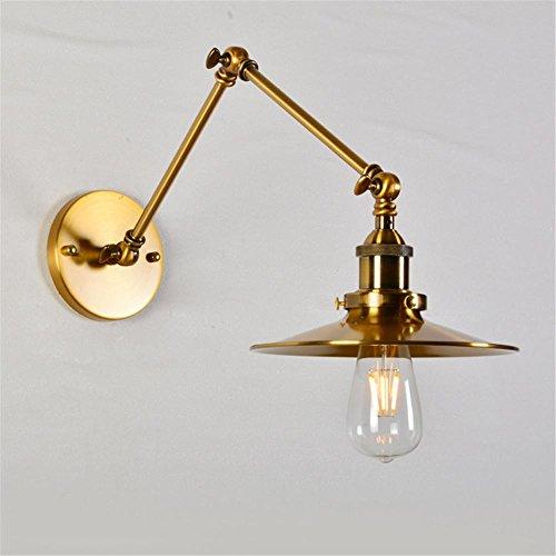 pays d'Amérique chambre lampe de chevet bras long de la double largeur lampe murale rétro cuivre