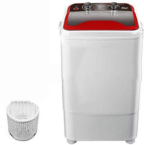 SQHY Lavadora portátil de una Sola Tina con Drenaje Cesta Mini - 7 Kg Capacidad de Lavado Lavado a presión de 400 W for Apartamentos, Camping, Sitio del Dormitorio 1111 (Color : Red)