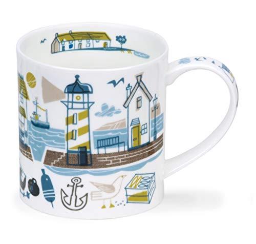 Dunoon - Porcelana de hueso fina con forma de orkney fabricada en Inglaterra, apta para lavavajillas y microondas, Beachcomber, Faro