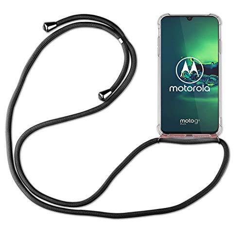 betterfon | Handykette kompatibel mit Motorola Moto G8 Plus Smartphone Necklace Hülle mit Band - Schnur mit Hülle zum umhängen in Schwarz