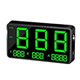 GSDCNV Universal GPS Pantalla Velocímetro Odómetro Hud mph/kmh con Altitude Velocidad Alarma Distancia Pantalla Fatiga Conducción Alarma para Todos los Vehículos - Negro