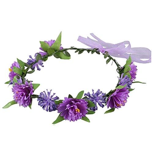 Sch?ne Handcrafted Haar Crown Kopfbedeckung Meer Blumen Kranz, Lila