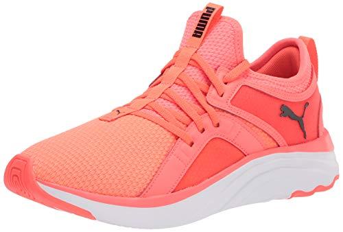 PUMA Women's SOFTRIDE Sophia Running Shoe, Fiery Coral Black White, 7.5