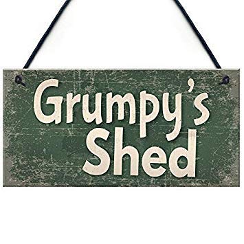 15x30cm Shed Grumpys Shed House Door Garden Summerhouse Gifts For Dad Funny Quote Plaque Sign Home Craft Sign for Women Men 831389