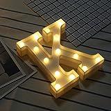 SONGSH Canciones Luz De Noche LED 26 Letra Inglesa Lámpara De Luz Interior Modelo Plástico De La Batería De Luz De Niña Luz de Noche LED (Color : K)