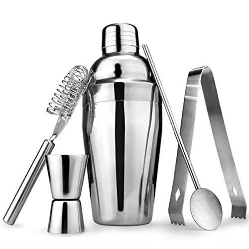 Kit Coqueteleira com 5 Peças em Aço Inox