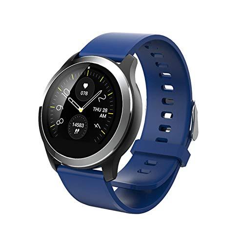 JXFF Smart Watch.Z03 Fitness Tracker SmartWatch ECG Ritmo cardíaco Monitor de presión Arterial Smart Bracelt para Hombres Android para iOS Mujeres,L